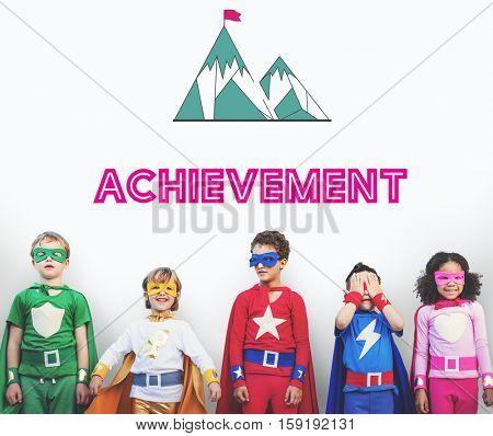 Strategy Success Mission Goals Concept