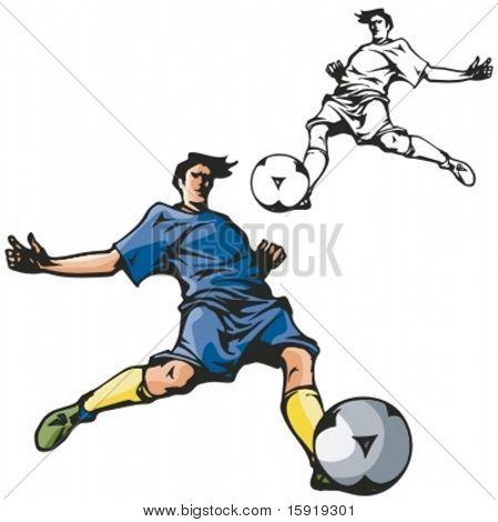 Fußball-Nationalspieler. Vektor-illustration