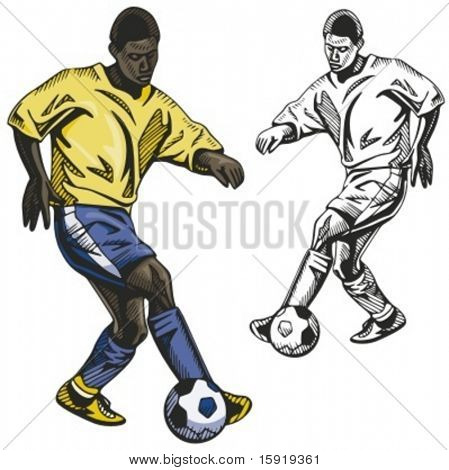 Brasil soccer player. Vector illustration