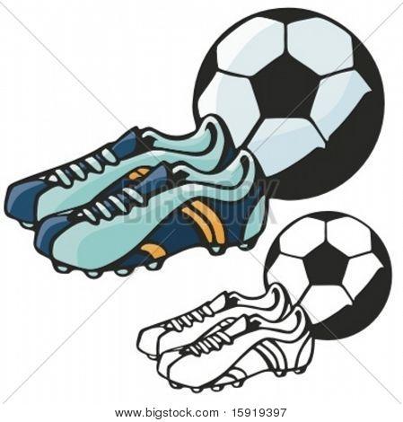 Fußball Stiefel. Vektor-illustration