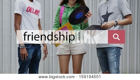 Friendship Together Music Entertainment Enjoyment Concept