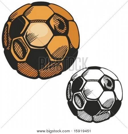 Gold Fußball. Vektor-illustration