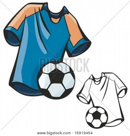 Fußballtrikot. Vektor-illustration