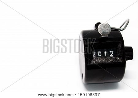 Year 2012 Counter on isolated white background
