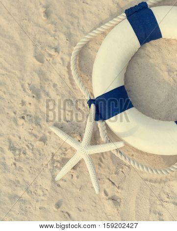 Lifebuoy Swimming Protection Safety Concept Lifebuoy Swimming Protection Emergency Safety Concept