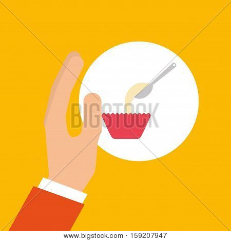 bakery cooking hand mixing up vector illustration eps 10