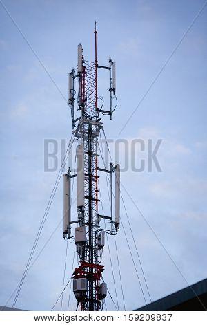 Modern antenna equipment for mobile communicationsrepeater telecommunication tower