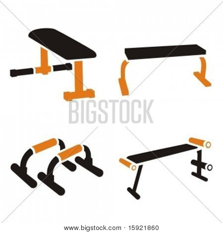 Fitness-Vektor-Icons-Serie.