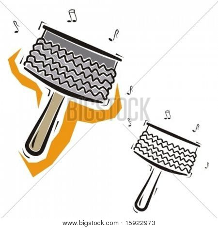 Music Instrument Series. Vector illustration of a percussion instrument.