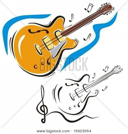 Music Instrument Series. Vector illustration of a classic guitar.