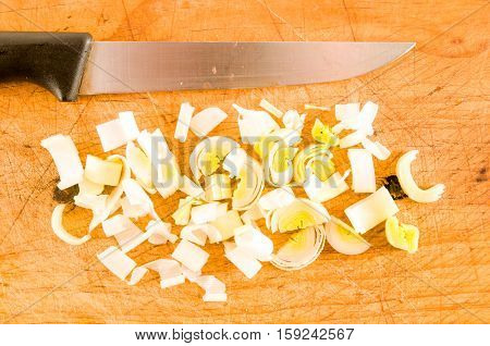 Close Up Of Sliced Zucchini