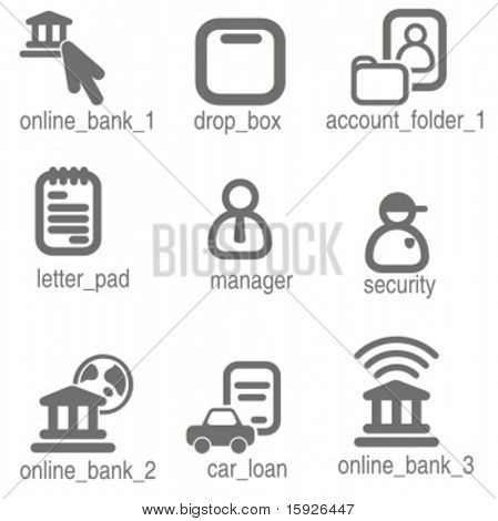 Accounting icons set 3. Check my portfolio for many more images from this series.