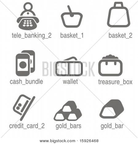 Accounting icons set 2. Check my portfolio for many more images from this series.