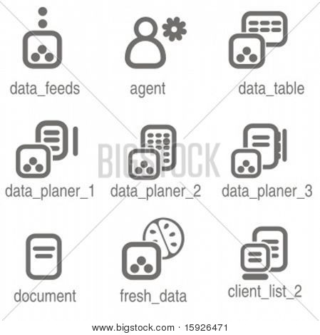 Networking icons set 3. Check my portfolio for many more images from this series.