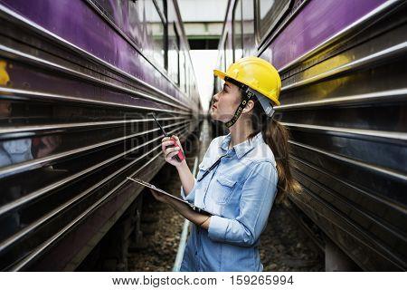 Woman Survey Train Safety Project Concept