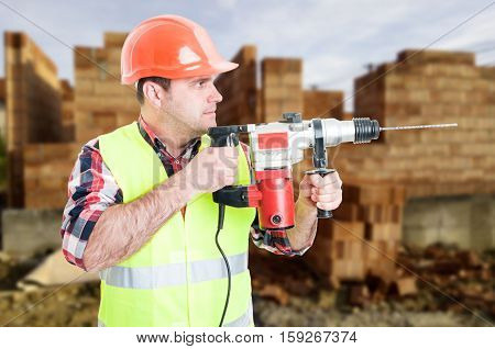 Professional Builder With Drill Machine