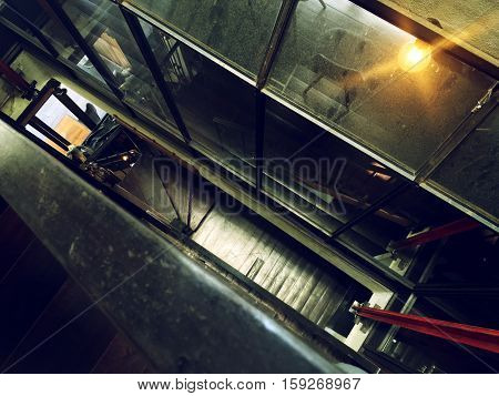 Gloomy Grunge Narrow Steel Room Concept