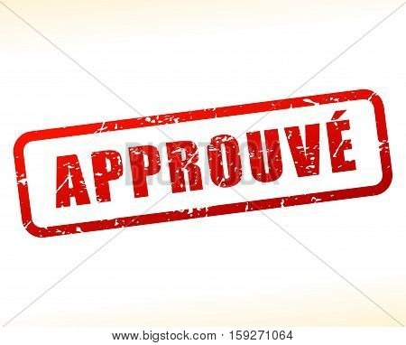 Illustration of approved buffered on white background