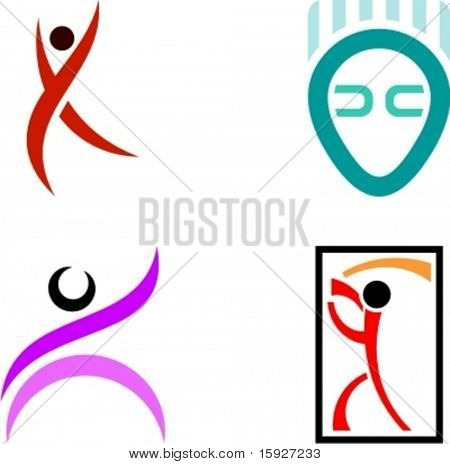 Human Shape Logo Design Elements.