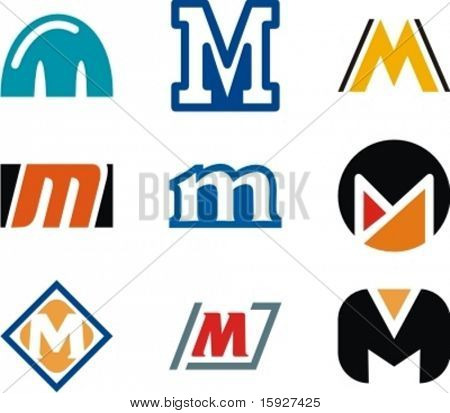 Alphabetical Logo Design Concepts. Letter M. Check my portfolio for more of this series.