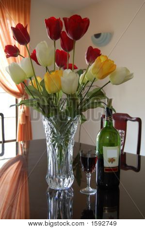 Dining Room And Flowers