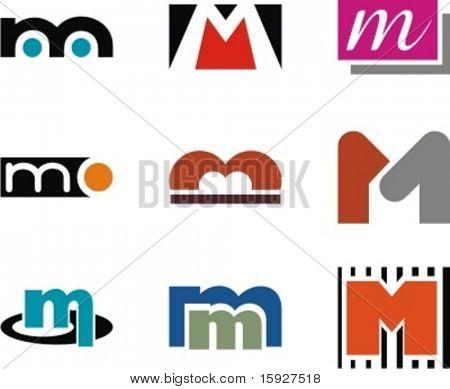 Conceptos de diseño de logotipo por orden alfabético. Carta M. Check mi cartera para más de esta serie.