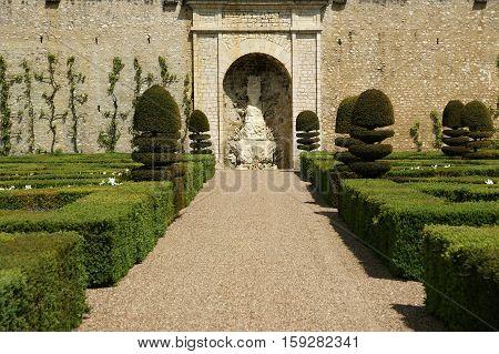 France, May 07: France, May 07, 2012.  Ornamental Gardens Near Castle Of Villandry