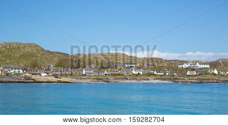 Iona Scotland uk Inner Hebrides Scottish island off the Isle of Mull west coast of Scotland a popular tourist destination known for the abbey