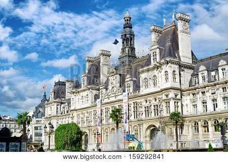 The City Hall In Paris, France.