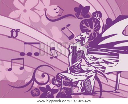 Serie exclusiva de músico fondos en estilo Floral. Comprobar mi cartera para mucho más de este s