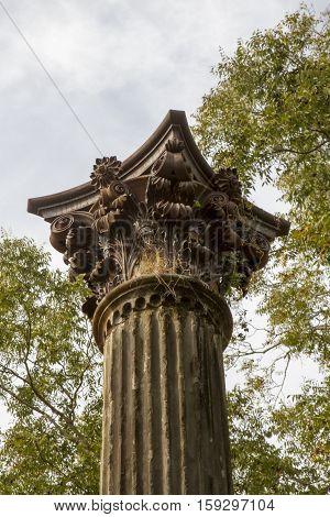 Pillar With Birds Nest