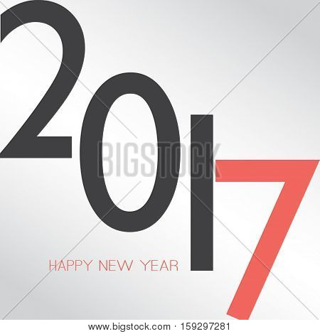 Best Wishes - Abstract Retro Style Happy New Year Greeting Card or Background, Creative Design Template - 2017