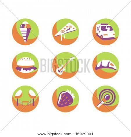 Série exclusiva de ícones de comida. Confira meu portfólio para muito mais desta série, assim como milhares