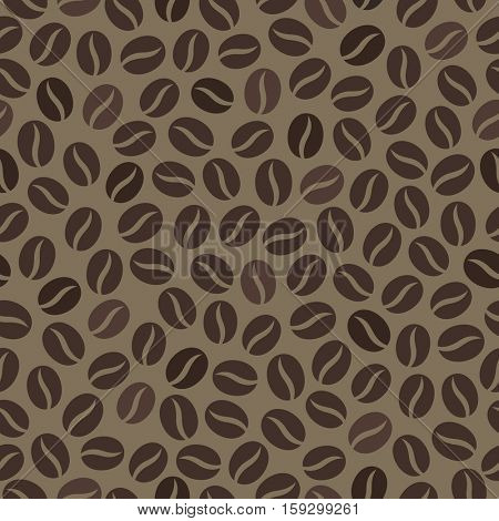 Seamless wallpaper pattern with coffee beans