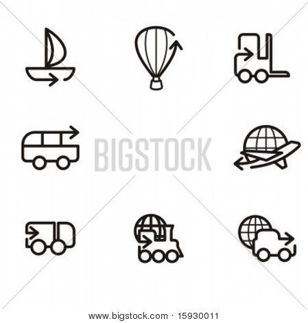 Série exclusiva de ícones da seta. Confira meu portfólio para muito mais desta série, bem como mil