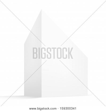 Three-dimensional White Box With Shadow In Perspective. EPS10 Vector