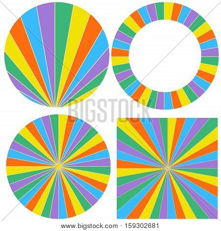 pattern wheel elements to build a wheel of fortune, vector template