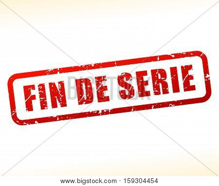 Illustration of end of stock buffered on white background