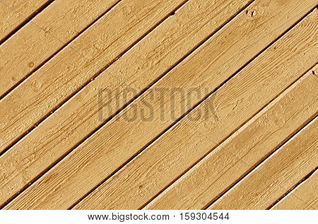 Orange Color Wood House Wall Surface.