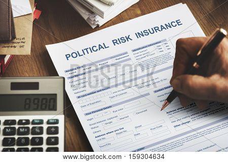 Political Risk Insurance Failure Financial Concept