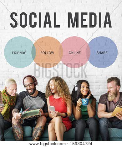 Social Media Words Online Concept