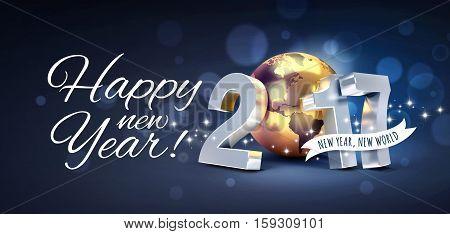 2017 New Year Greeting Card
