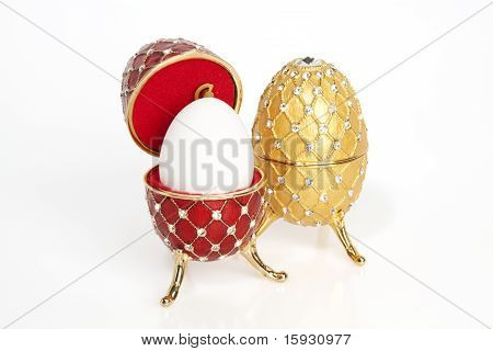 Two Jewels Eggs With A Real One