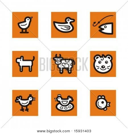Exclusive Series of Animals Icons. Check my portfolio for much more of this series as well as thousands of similar and other great vector items.