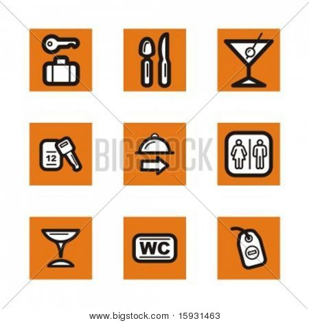 Exclusive Series of Hotel and Restaurant Icons. Check my portfolio for much more of this series as well as thousands of similar and other great vector items.