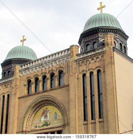 Toronto Canada - November 5 2015: Building of Greek Orthodox Church.