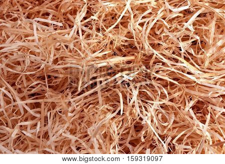 Red Toned Wood Shavings Texture.