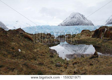 The Amalia Glacier and Reclus Volcano in Bernardo O'Higgins National Park in Chile