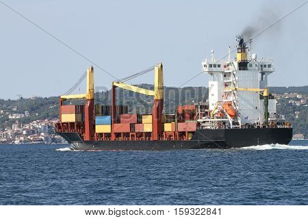 Container Ship Carrying Goods