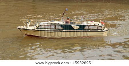 A Radio Controlled Model of a River Cruiser Boat.